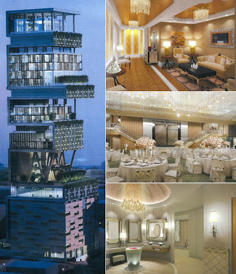 Antilla - the world's largest And expensive private home  Antilia-largest-private-home-07