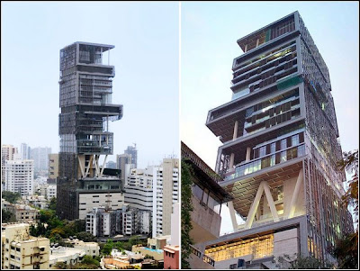 Antilla - the world's largest And expensive private home  Antilia-largest-private-home-01