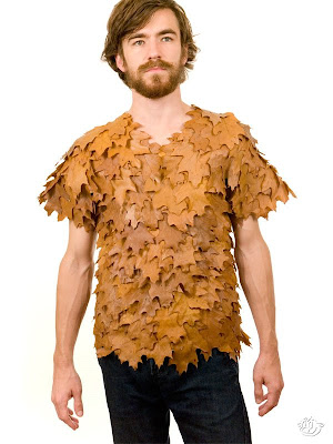 Shirts made by leaves