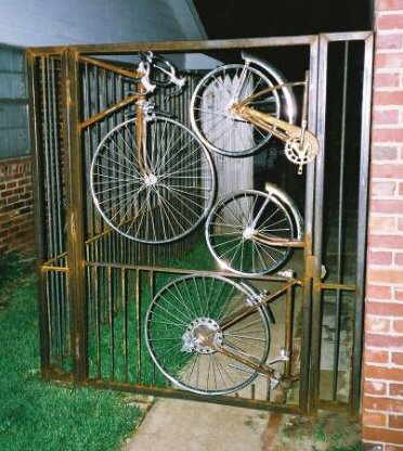 funny fence  bicycles pictures
