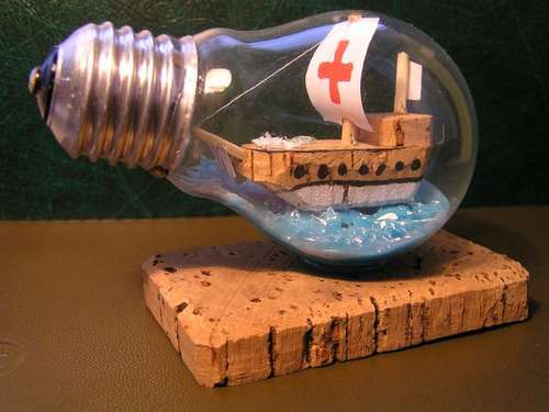 New life of old light bulbs