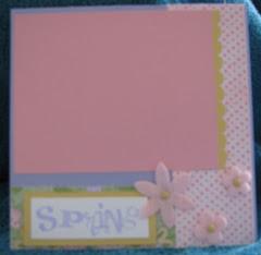 Spring Flower 6X6 scrapbook page