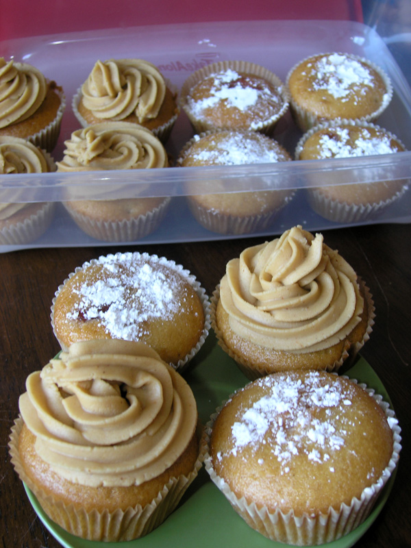 Peanut Butter and Jelly Cupcakes with Jelly Donut Cupcakes