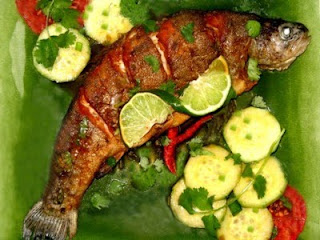 Grilled Fish Recipes on Ingredients 110 Gms Promfret Fish 2 Tsp Mustard Powder 2 Potato Fried