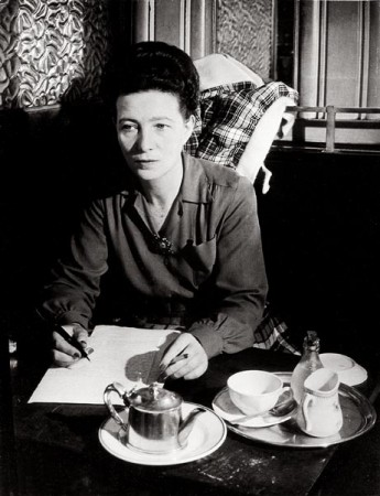 Simone de Beauvoir in Harlem, 1947