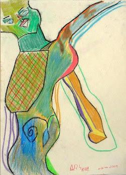 Mujer verde bailando