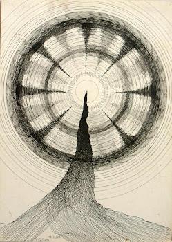 La espiral del hombre sobre la colina