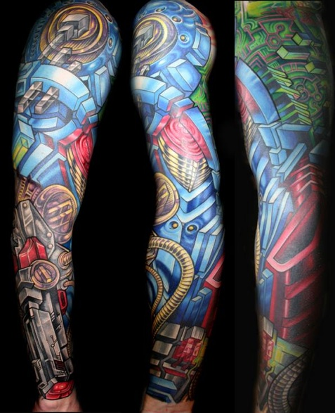 leg sleeve tattoos. Dragon Sleeve Tattoo. sleeve