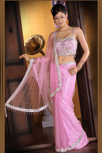 Double Blouse Sarees Valentines Day Specials