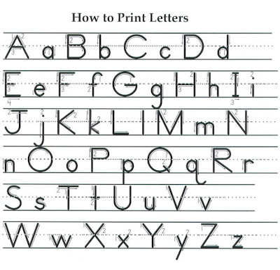 Number Names Worksheets : joined writing alphabet ~ Free Printable ...