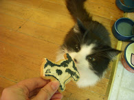 Claudia my cat & her personalized cookie (it looks just like her!)