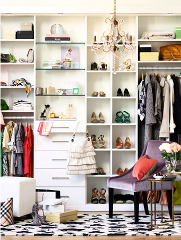 Beautiful Closets lovely clusters - the pretty blog www.lovelyclustersblog