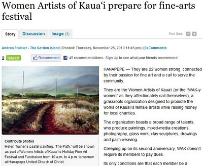 Women Artists Of Kaua 39 I December 2010