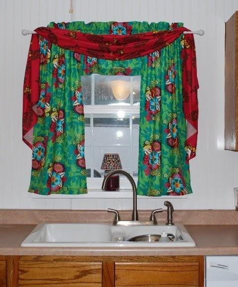Boutique NutMeg Designs New Kitchen Curtains