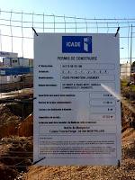 Montpellier, chantier de la mairie