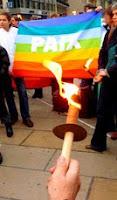 La flamme de la paix à Montpellier