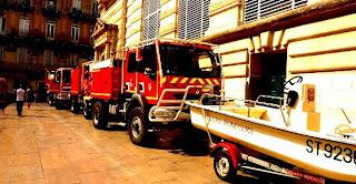 Défilé des pompiers, Montpellier