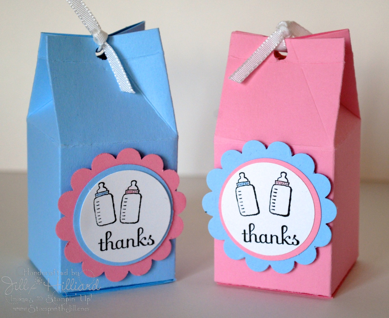 Jill 39 s card creations baby shower favors for Baby shower decoration ideas for twin boys