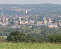 View at Oxford from Boars Hill