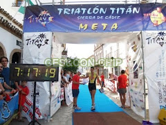 Llegada Triatlón Titán Sierra de Cádiz
