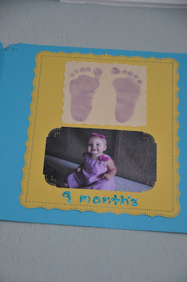 Baby Footprints Birthday Decoration