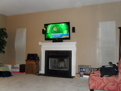 WALL MOUNT TV OVER GAS FIREPLACE | HAND WARMERS & FOOT WARMERS