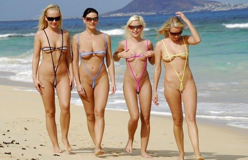 фотографии мини бикини на пляж