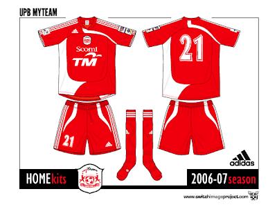 Football teams shirt and kits fan: UPB-My Team FC 2006-07 football ...