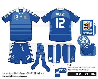 football teams shirt and kits fan france 200910 national