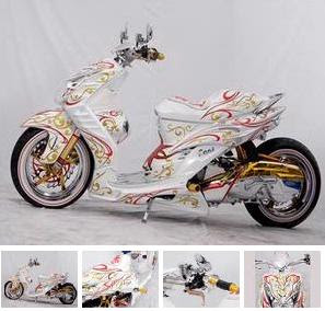 motorcycle design modification  Yamaha Mio Batik