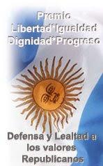 PREMIO LIBERTAD IGUALDAD DIGNIDAD I PROGRESO