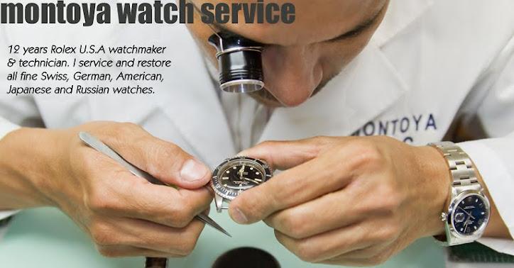 montoya watch service