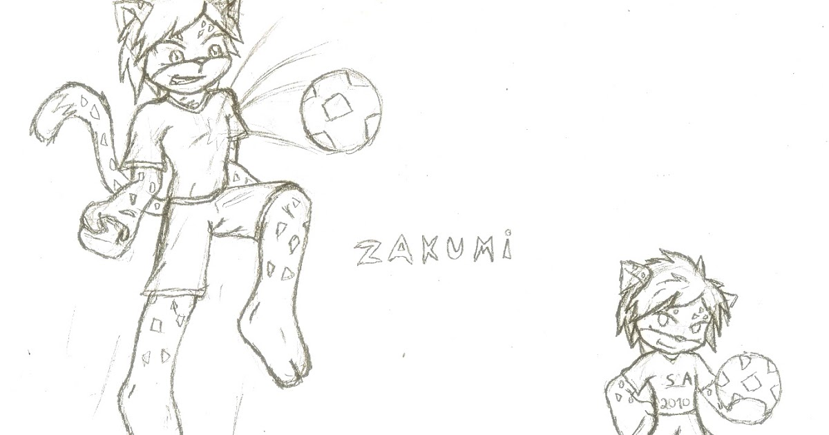 zakumi coloring pages - photo #2