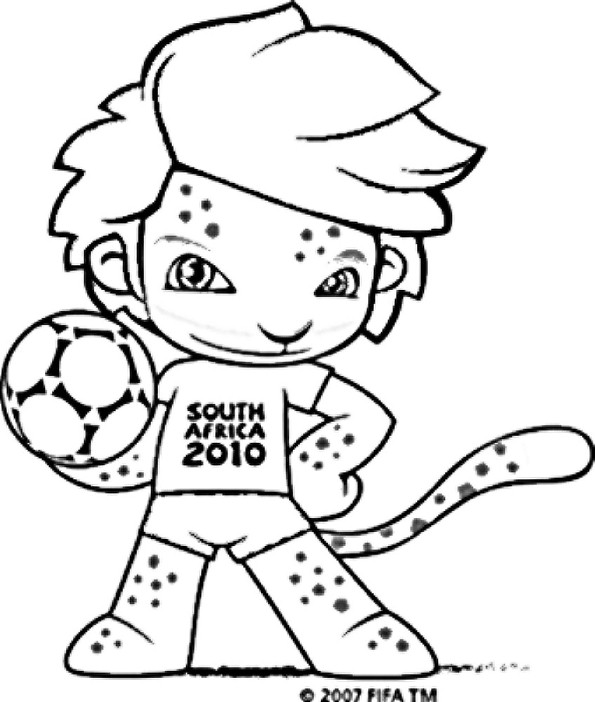 zakumi coloring pages - photo #3
