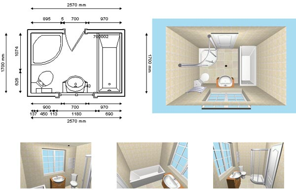 Semuamuat simple bathroom design for Bathroom layout design