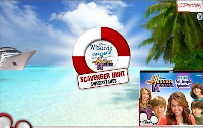 Disneychannel.com : Disney Channel Scavenger Sweepstakes List