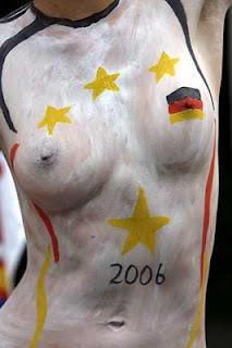 Body Paint Germany Flag in Body Sporter German