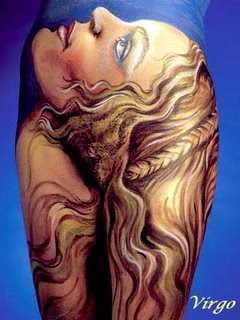 Virgo Body Painting