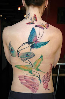 Variety of Butterfly Tattoos on Back