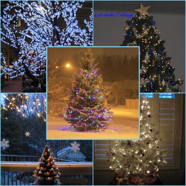 lavender cottage mosaic monday twinkling christmas trees. Black Bedroom Furniture Sets. Home Design Ideas