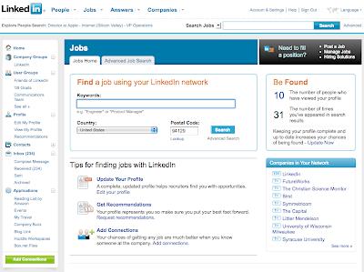 LinkedIn.com - Hledání práce