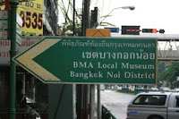 Street sign pointing towards the district museum