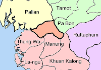 Map of Satun-Trang boundary area