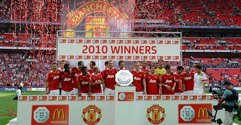 2010-2011 Trophy Of Community Shield belongs to Manchester United!