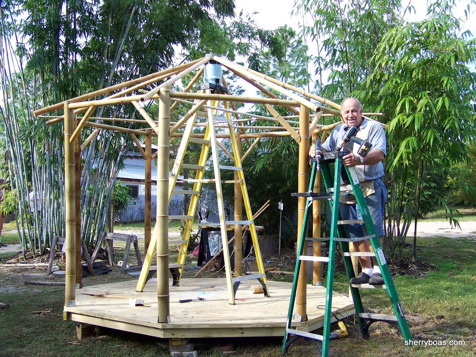 how to build a simple gazebo from bamboo