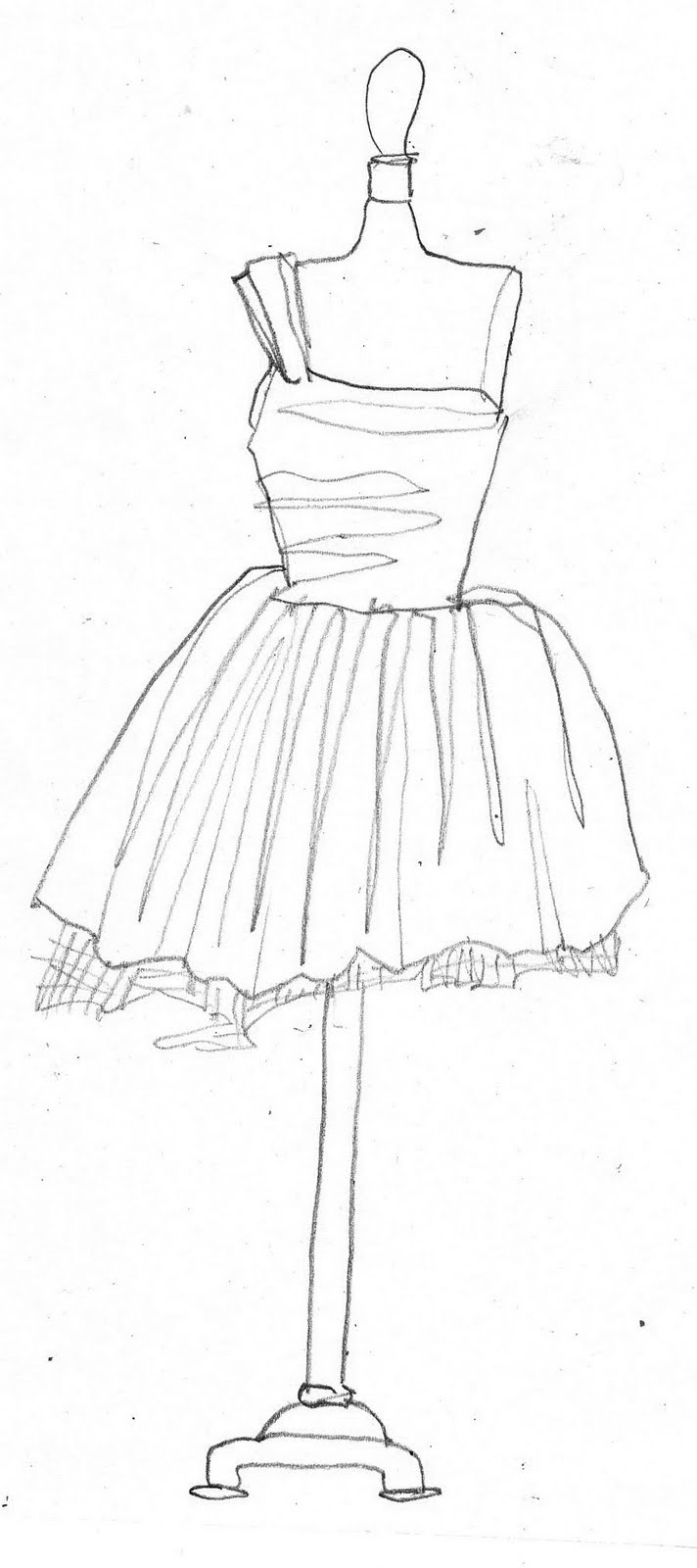 Drawing In Pencil Character Ideas Dress Form Dawn Schreiner