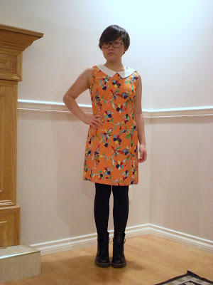 vintage Floral Dress with Doc Martens boots
