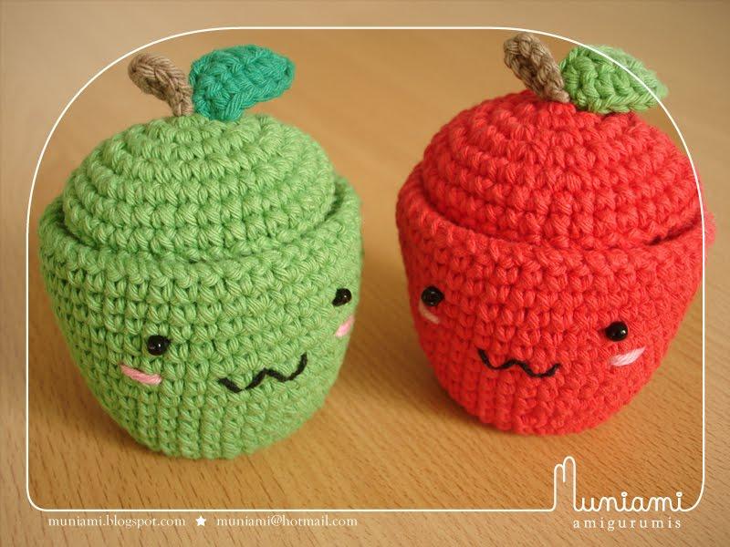 Amigurumi Manzana Patron : Muniami: Manzana cajita * Apple box