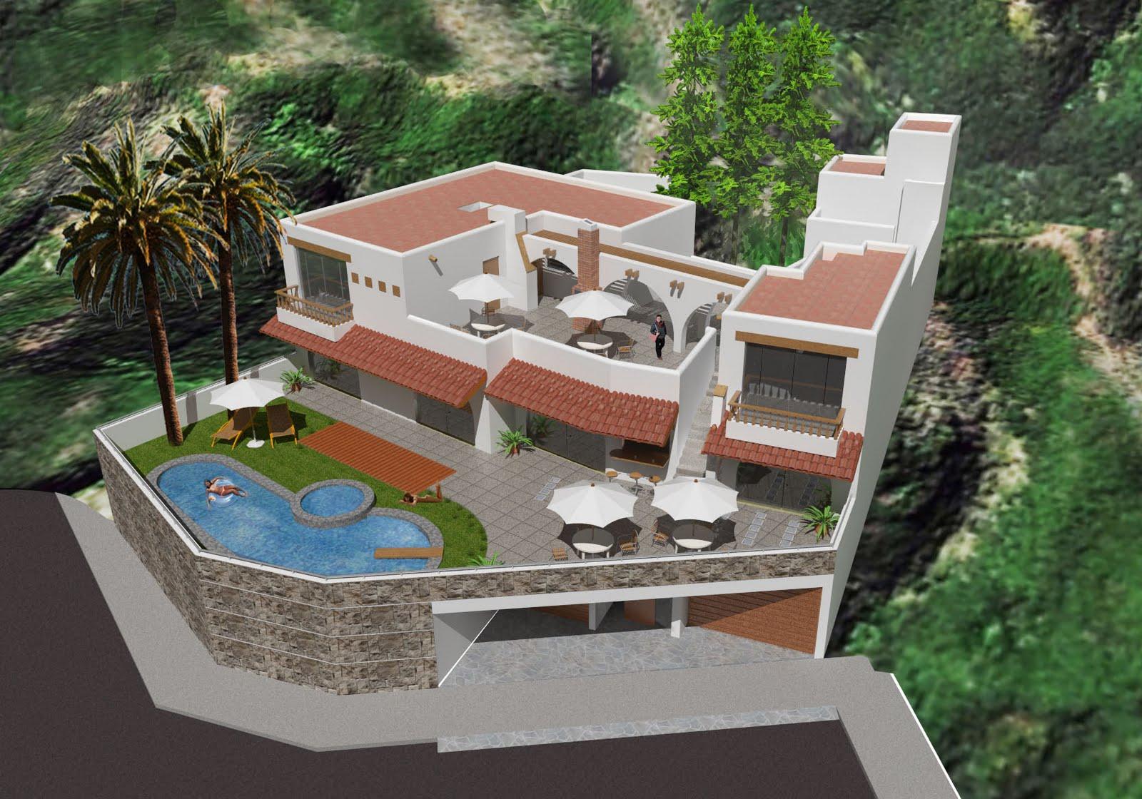 Arquitectura 3d arquitectura casa de playa barranca peru - Casa de playa ...