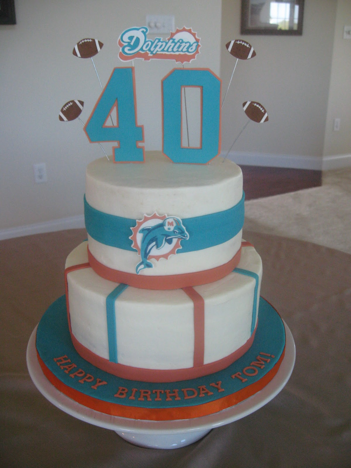 Stuff By Stace Miami Dolphins Birthday Cake
